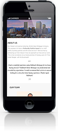 website design iphone